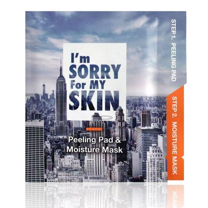Купить Набор для деликатной эксфолиации и интенсивного увлажнения I'm sorry for my skin, I`m Sorry For My Skin Peeling Pad and Moisture Mask, Южная Корея