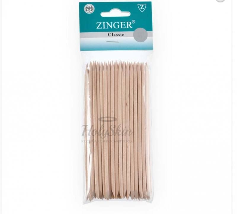 Набор деревянных палочек для маникюра Zinger Набор деревянных палочек 14 см 50 шт овальная форма лопатки IG-14SL-50 фото