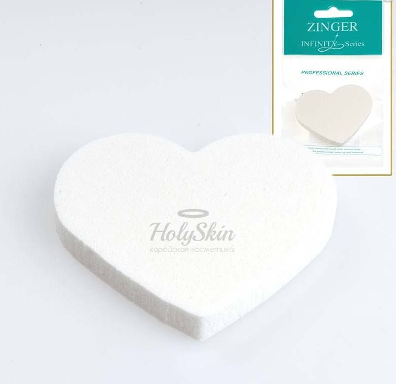 Спонж для нанесения макияжа Zinger — Спонж для нанесения макияжа в форме сердца INF-MJ-501