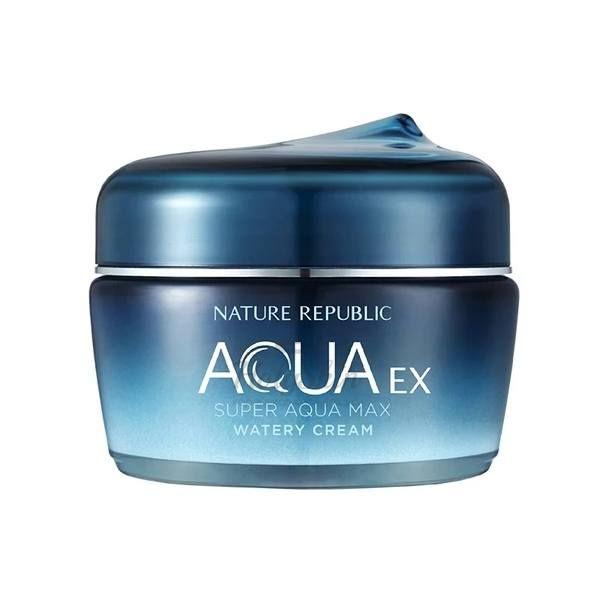 Купить Ультра увлажняющий крем для лица Nature Republic, Super Aqua Max Ex Watery Cream, Южная Корея