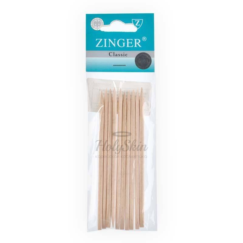 Деревянные палочки для маникюра Zinger — Набор деревянных палочек 12 см 50 шт прямоугольная форма лопатки IG-12ST-50