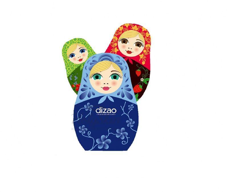 Купить Серия масок для лица Dizao, Маски для лица Три красотки, Китай