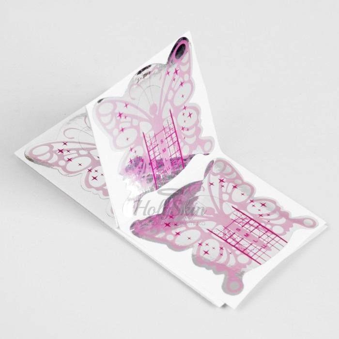 Купить Формы для ногтей Бабочка HS, HS Формы для ногтей Бабочка 10 шт, Китай