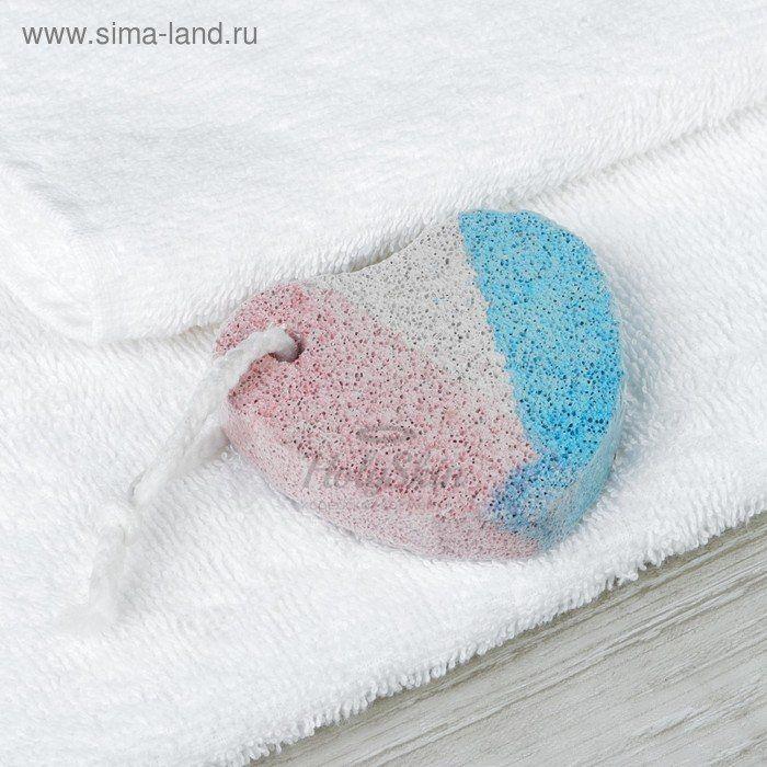 Купить Пемза для педикюра HS, HS Пемза для педикюра Сердце 7 × 7 см Белый/Синий/Красный, Китай