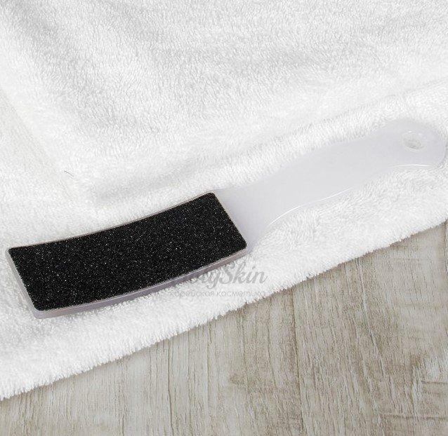 Купить Тёрка для ног наждачная двусторонняя белая HS, HS Тёрка для ног наждачная двусторонняя белая 22 см, Китай