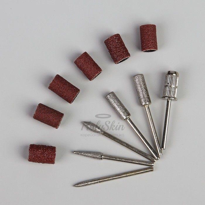 Купить Фрезы с алмазным напылением HS, HS Фрезы с алмазным напылением с насадками для маникюра 12 шт, Китай