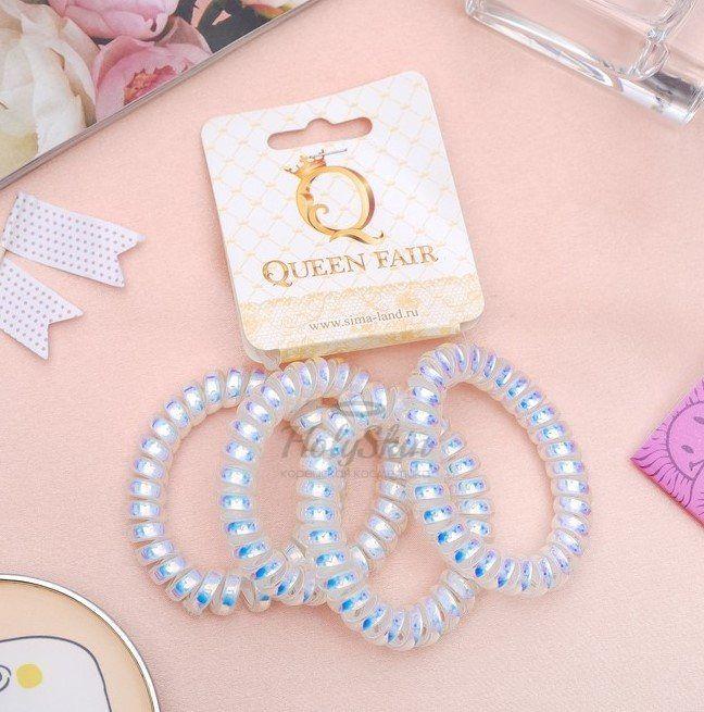Купить Набор резинок для волос Пружинка HS, HS Набор резинок для волос Пружинка (Белый Перелив), Китай