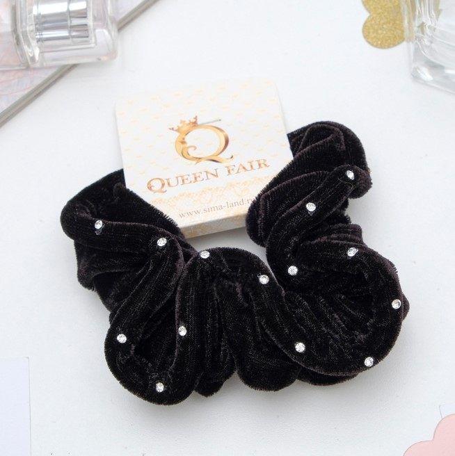 Купить Резинка для волос бархатная Орбита HS, HS Резинка для волос бархатная Орбита (Пряжка защип), Китай