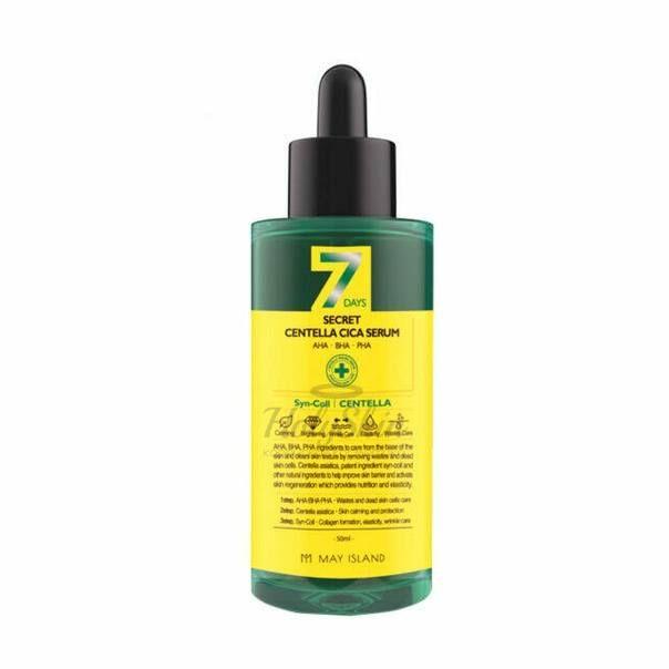 Купить Обновляющая сыворотка для проблемной кожи с центеллой МayIsland, 7Days Secret Centella Cica Serum, Южная Корея