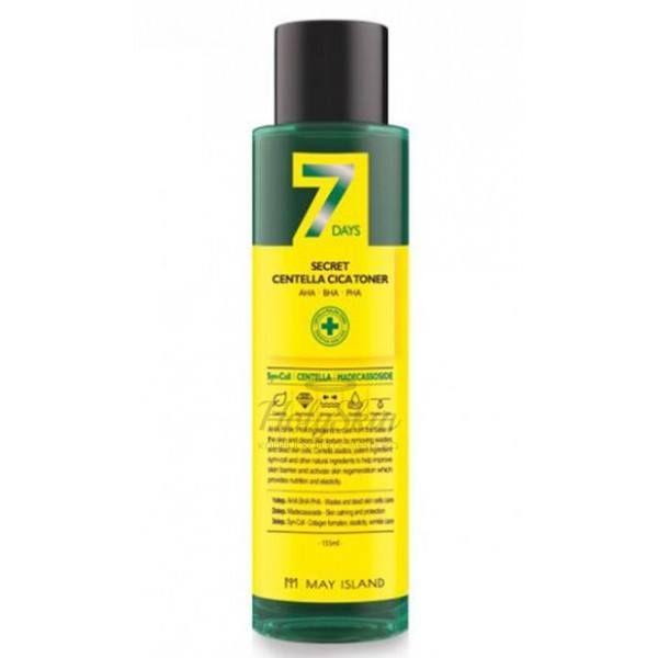 Купить Обновляющий тонер для проблемной кожи с центеллой МayIsland, 7Days Secret Centella Cica Toner, Южная Корея