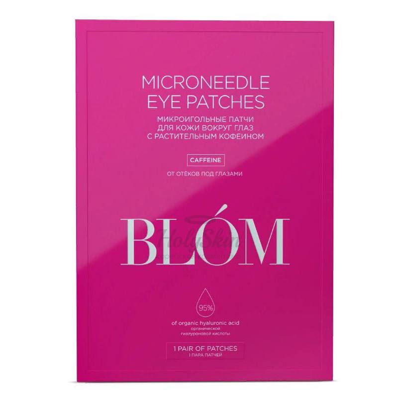 Купить Микроигольные патчи с кофеином от отечности BLOM, Microneedle Eye Patches Caffeine, Южная Корея