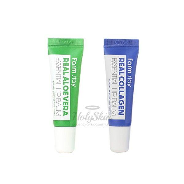 Купить Супер увлажняющий бальзам для губ Farmstay, Real Essential Lip Balm, Южная Корея