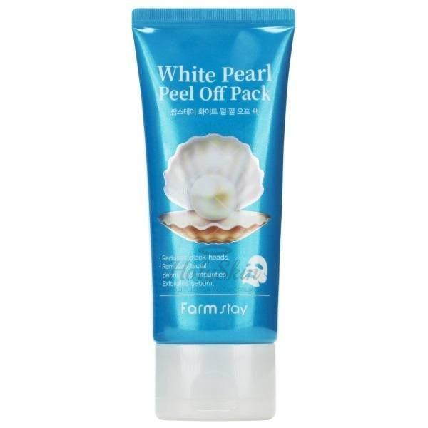 Очищающая маска пленка с экстрактом жемчуга Farmstay — White Pearl Peel Off Pack