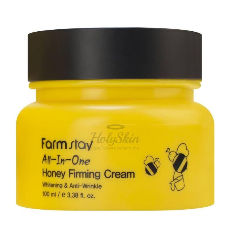 Укрепляющий крем для лица с экстрактом меда Farmstay All-In-One Honey Firming Cream фото