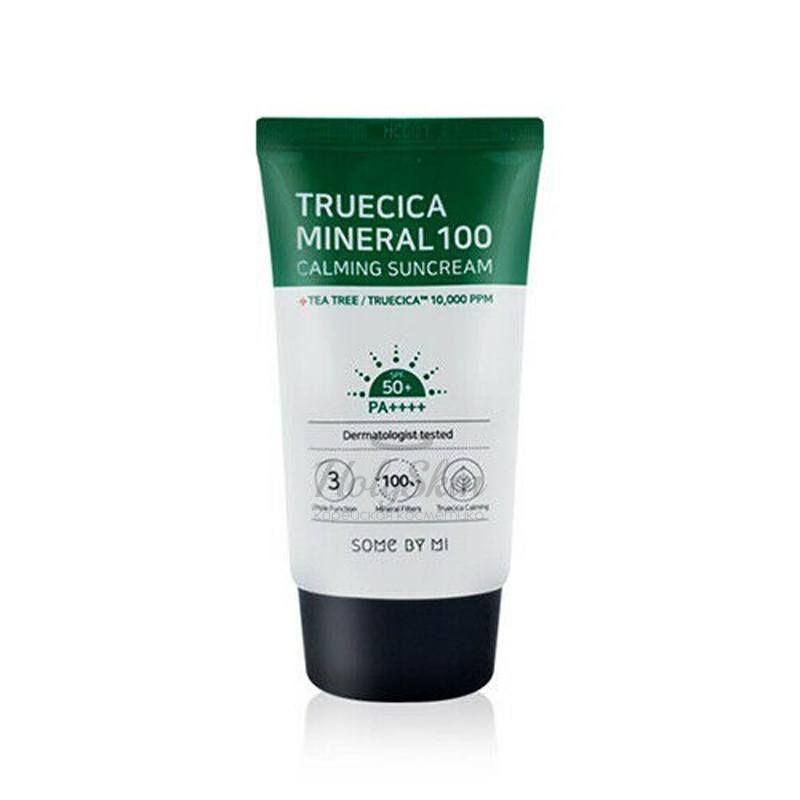 Успокаивающий солнцезащитный крем Some By Mi, Truecica Mineral 100 Calming Sun Cream, Южная Корея  - Купить
