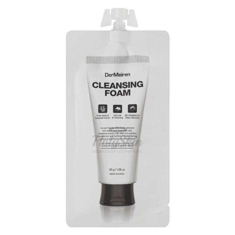 Купить Пенка для глубокого очищения кожи с экстрактом водорослей DerMeiren, DerMeiren Cleansing Foam, Южная Корея