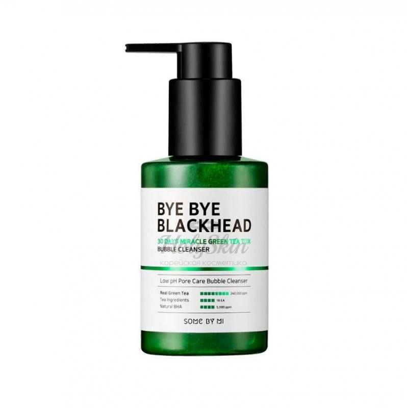 Купить Пенка-маска от черных точек Some By Mi, Bye Bye Blackhead 30 Days Miracle Green Tea Tox Bubble Cleanser, Южная Корея