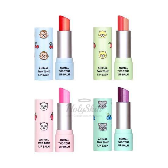 Купить Двухцветный бальзам для губ Skin79, Animal Two-Tone Lip Balm, Южная Корея