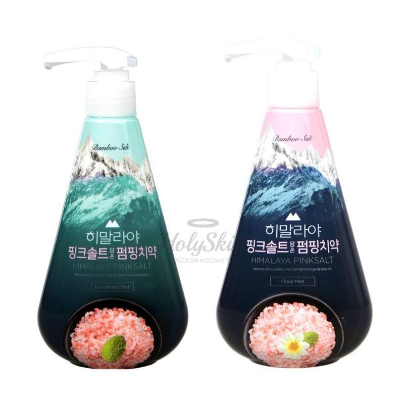 Купить Зубная паста с розовой гималайской солью LG Household and Health Care, Pumping Himalaya Pink Salt, Южная Корея