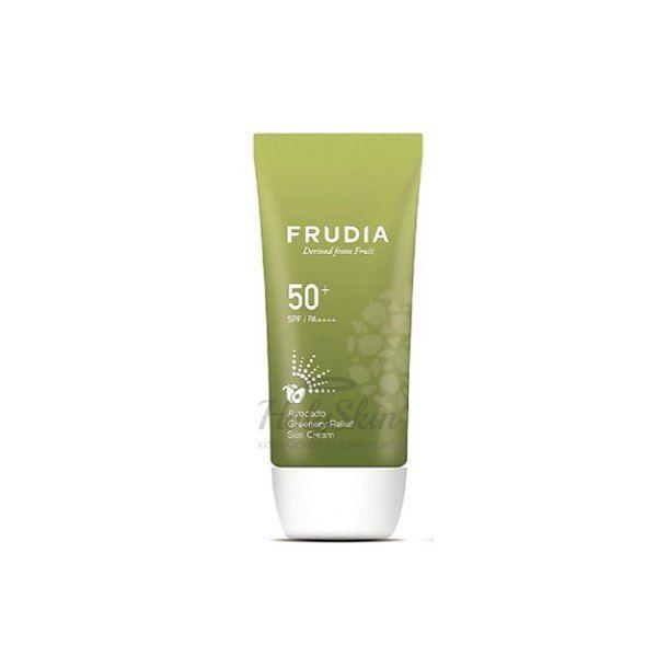 Солнцезащитный восстанавливающий крем с авокадо Frudia, Avocado Greenery Relief Sun Cream, Южная Корея  - Купить