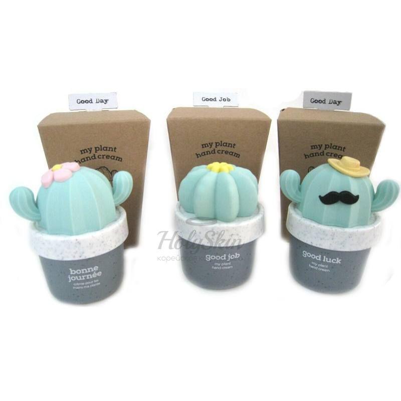 Крем для рук с легкой текстурой в очаровательной упаковке The Face Shop My Plant Hand Cream фото