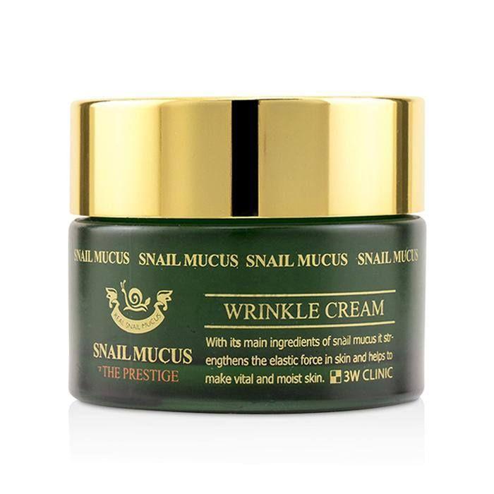 Омолаживающий крем для лица с улиточным муцином 3W Clinic, Snail Mucus Wrinkle Cream, Южная Корея  - Купить