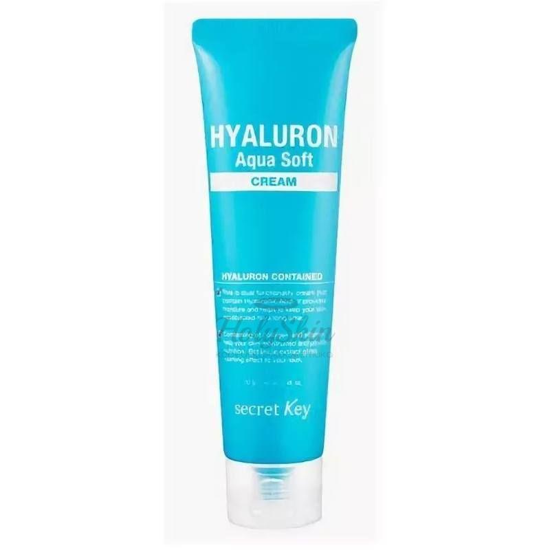 Купить Увлажняющий гиалуроновый крем для лица Secret Key, Hyaluron Aqua Soft Cream, Южная Корея