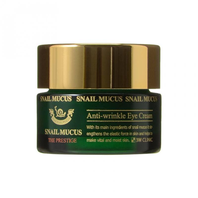 Купить Омолаживающий урем для век с улиточным муцином 3W Clinic, Snail Mucus Anti-Wrinkle Eye Cream, Южная Корея