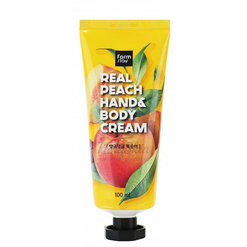 Купить Крем для рук и тела с экстрактом персика Farmstay, Real Peach Hand and Body Cream, Южная Корея