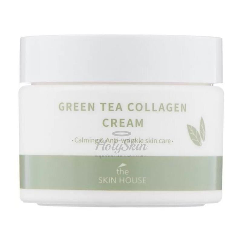 Купить Успокаивающий крем на основе коллагена и зеленого чая The Skin House, Green Tea Collagen Cream, Южная Корея