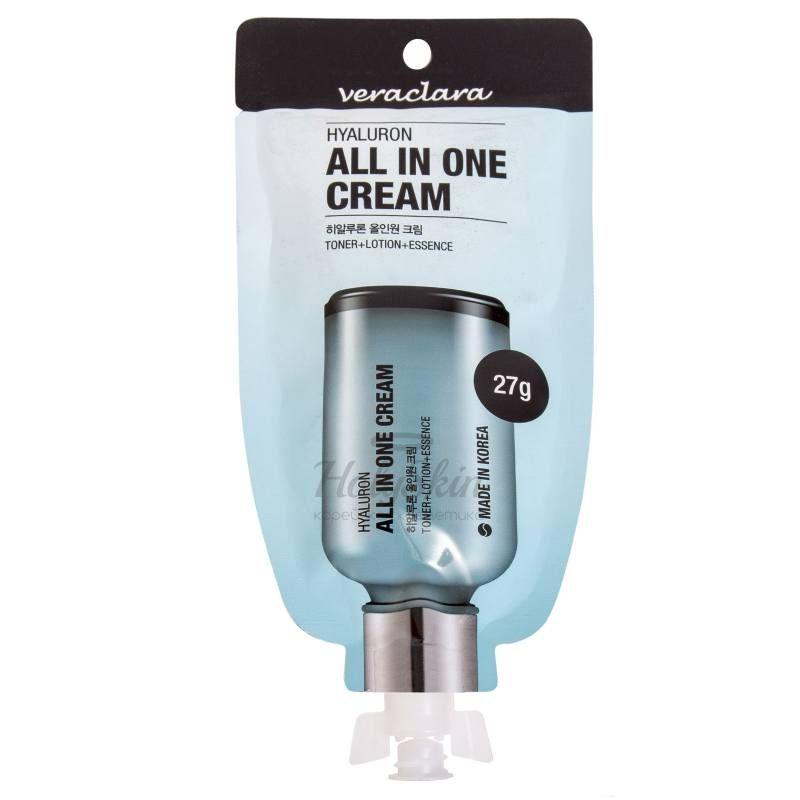 Купить Многофункциональный крем для лица с гиалуроновой кислотой Veraclara, Hyaluron All-In-One Cream, Южная Корея