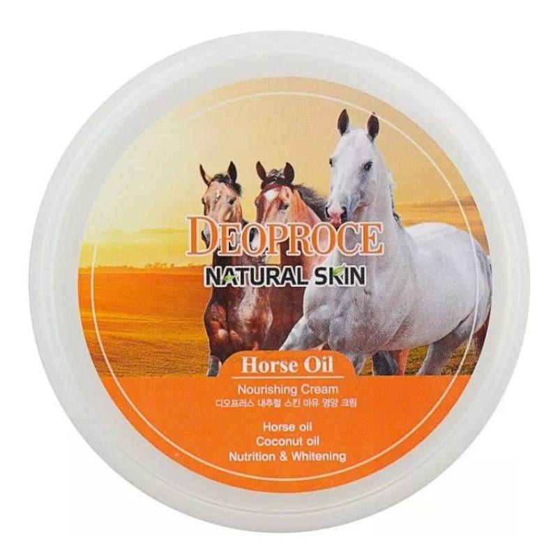 Купить Крем для лица и тела на основе лошадиного жира Deoproce, Natural Skin Horse Oil Nourishing Cream, Южная Корея
