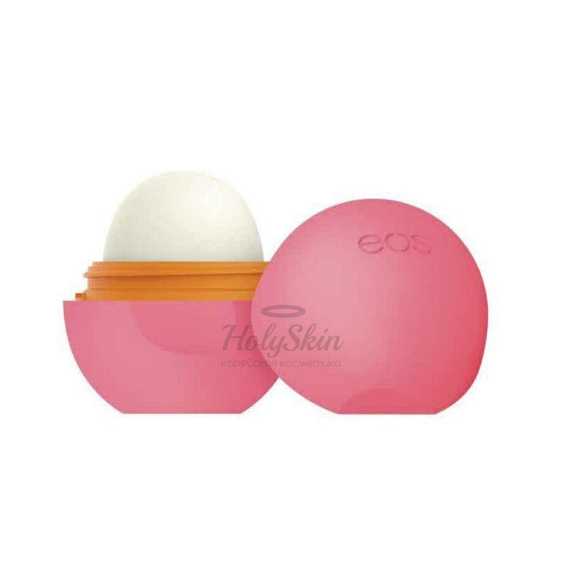 Бальзам для губ с ароматом клубники и персика EOS Smooth Sphere Lip Balm Strawberry Peach фото