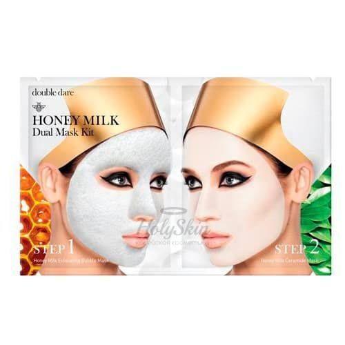 Купить Двухкомпонентный комплекс масок Глубокое очищение и увлажнение Double Dare OMG!, Honey Milk Dual Mask Kit, США
