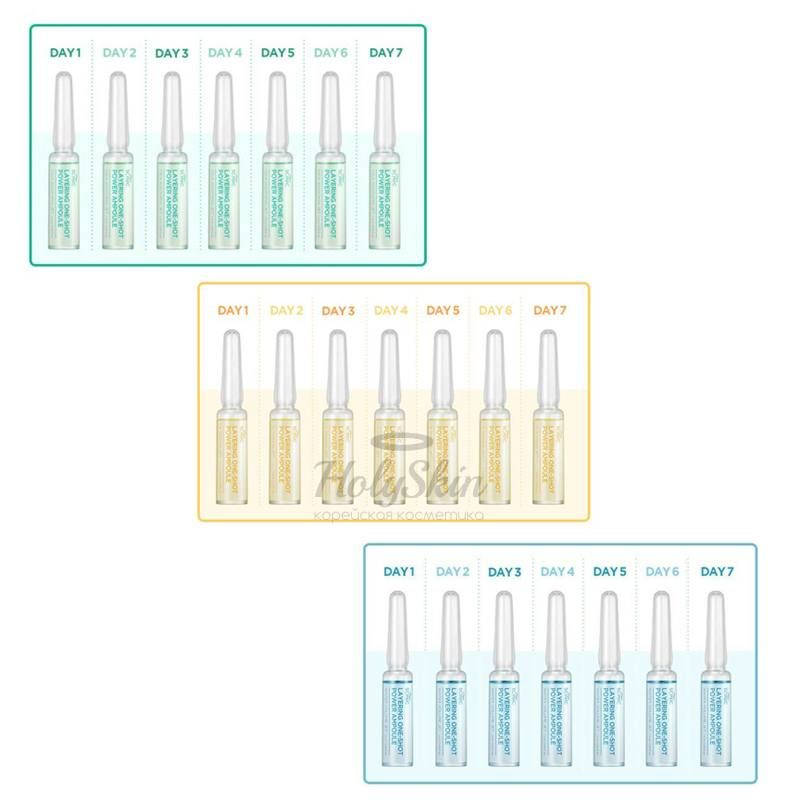 Набор ампул для ухода за кожей Scinic — Layering One-Shot Power Ampoule