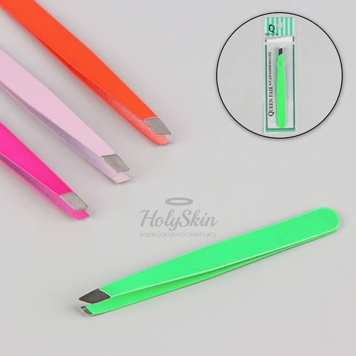 Купить Пинцет для бровей скошенный HS, HS Пинцет скошенный, 9, 5 см, цвет МИКС, Китай
