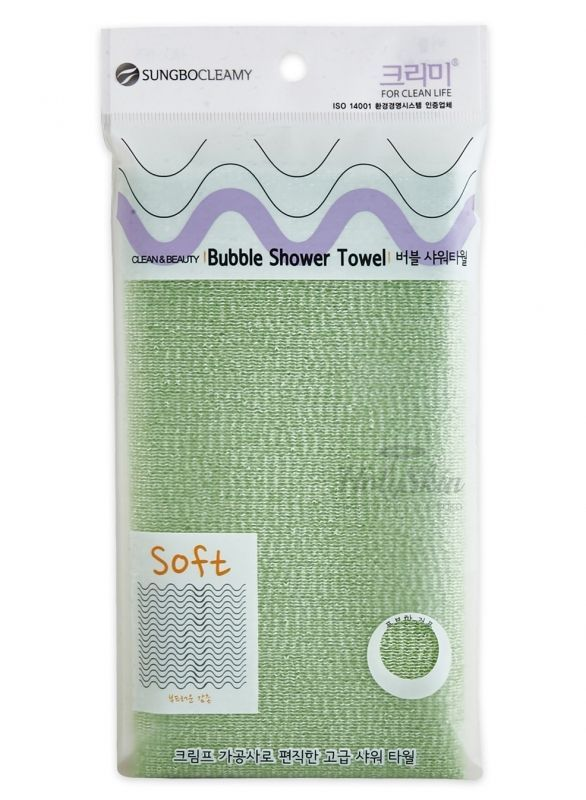 Clean And Beauty Bubble Shower Towel (28х100) description