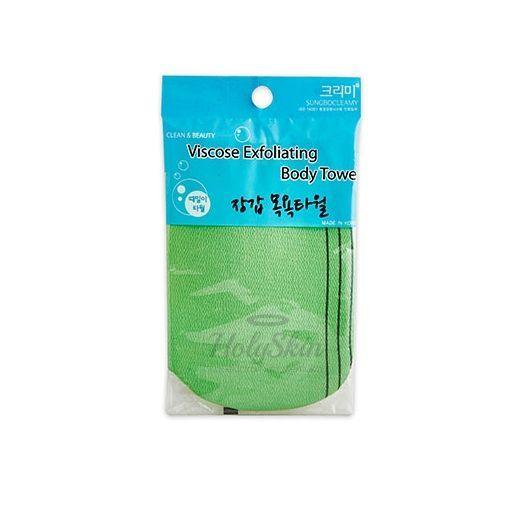 Мочалка-перчатка с жесткими ворсинками Sungbo Cleamy — Viscose Glove Bath Towel