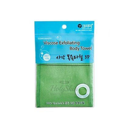 Жесткая мочалка из вискозы Sungbo Cleamy — Viscose Squared Bath Towel