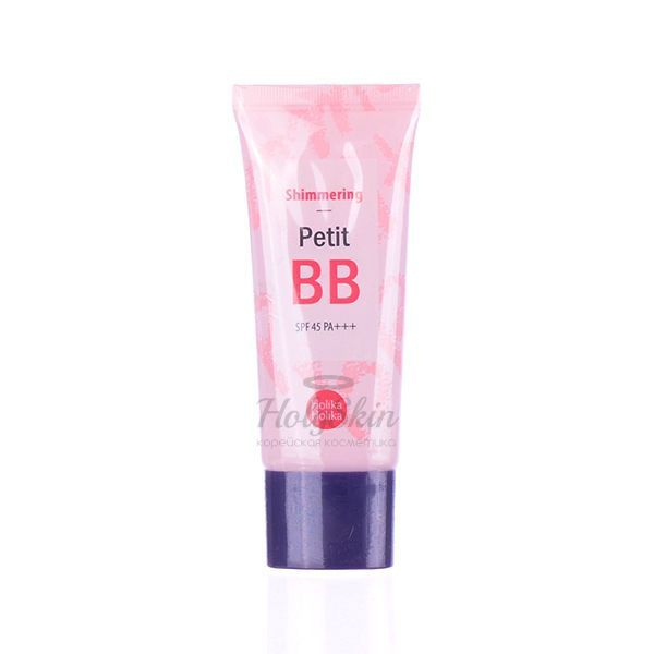 Купить BB крем с жемчужной пудрой Holika Holika, Petit BB Cream Shimmering, Южная Корея