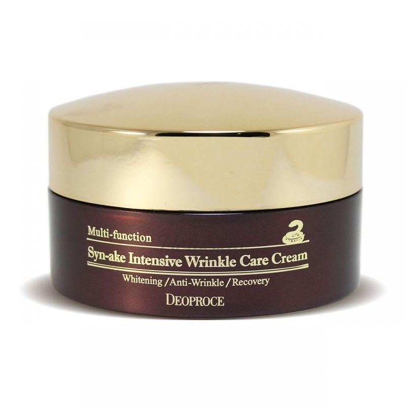 Купить Интенсивный антивозрастной крем со змеиным ядом Deoproce, Syn-Ake Intensive Wrinkle Care Cream, Южная Корея