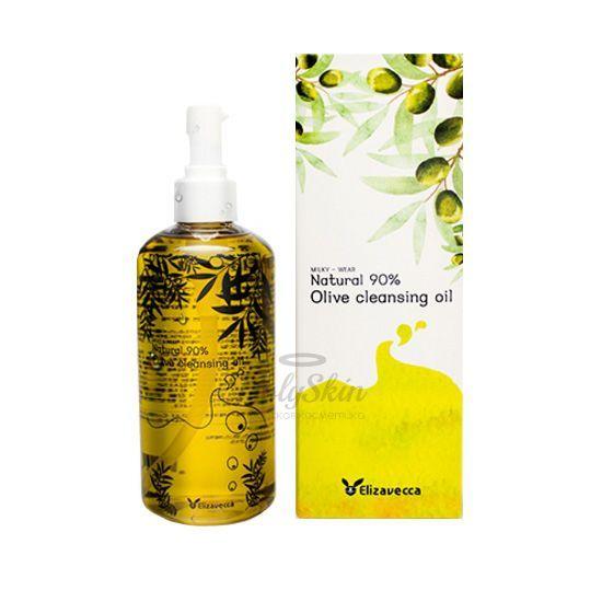 Гидрофильное масло с натуральным маслом оливы Elizavecca — Olive 90% Cleansing Oil