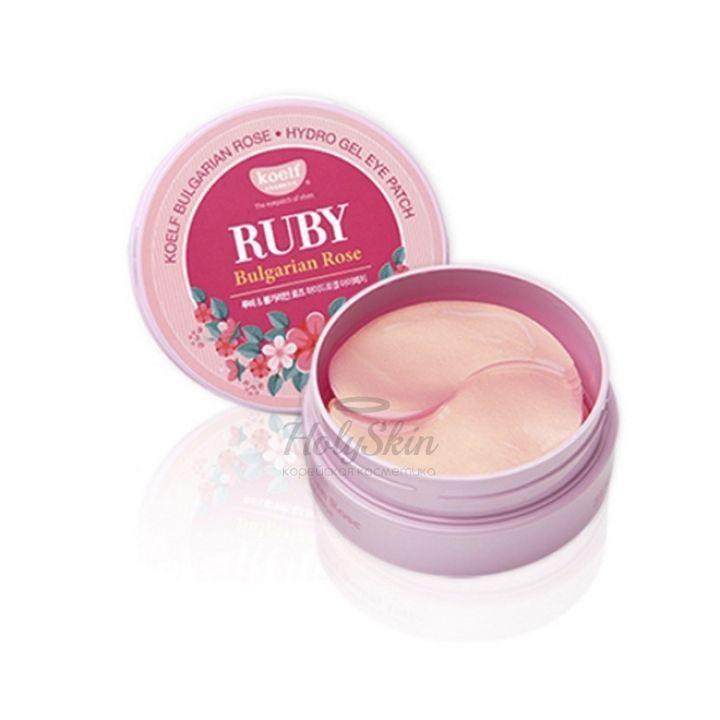 Купить Гидрогелевые патчи Koelf, Koelf Ruby Bulgarian Rose Hydro Gel Eye Patch, Южная Корея