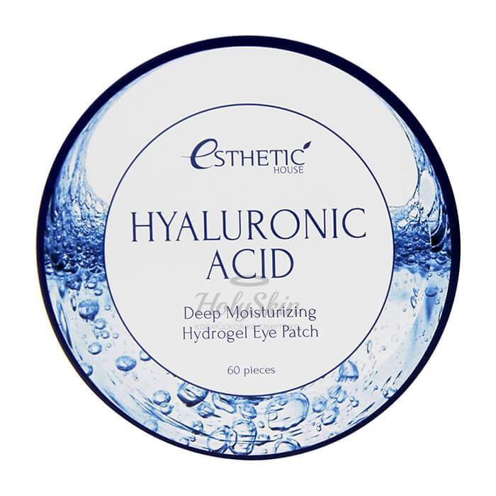 Купить Увлажняющие гидрогелевые патчи с гиалуроновой кислотой Esthetic House, Hyaluronic Acid Hydrogel Eye Patch, Южная Корея