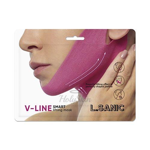 Купить Маска-бандаж для коррекции овала лица L'Sanic, V Line Smart Lifting Mask, Южная Корея