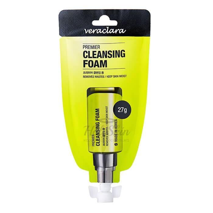 Купить Очищающая пенка для лица с целебными экстрактами Veraclara, Premier Cleansing Foam, Южная Корея
