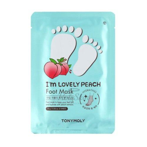 Купить Маска для ног с экстрактом персика Tony Moly, I'm Lovely Peach Foot Mask, Южная Корея