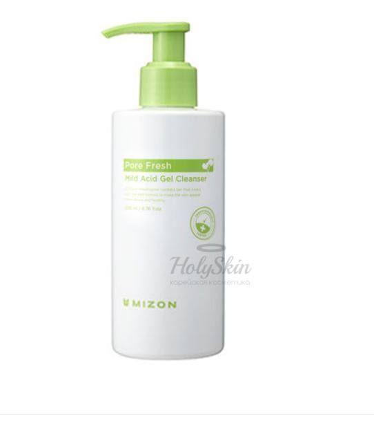 Купить Очищающий слабокислотный гель для чувствительной кожи Mizon, Pore Fresh Mild Acid Gel Cleanser, Южная Корея
