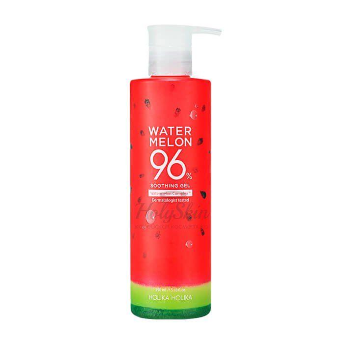 Купить Увлажняющий гель для лица и тела с экстрактом арбуза Holika Holika, Water Melon 96% Soothing Gel, Южная Корея