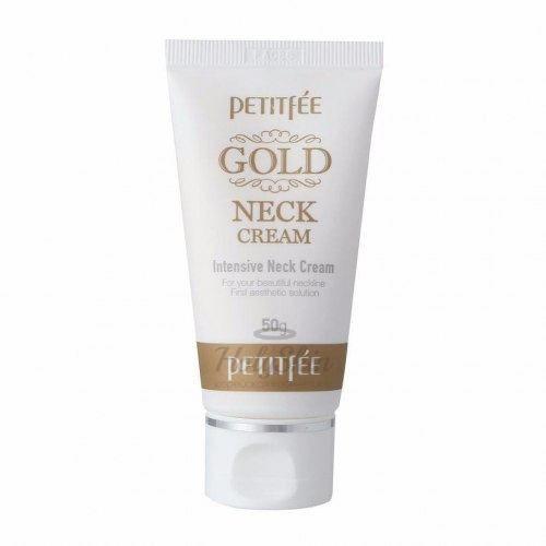 Антивозрастной крем для шеи Petitfee Gold Intensive Neck Cream фото